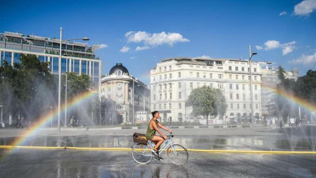 Die Höchsttemperatur in Wien erreichte am Dienstag 37,2 Grad Celsius. Foto: Guo Chen/XinHua/dpa