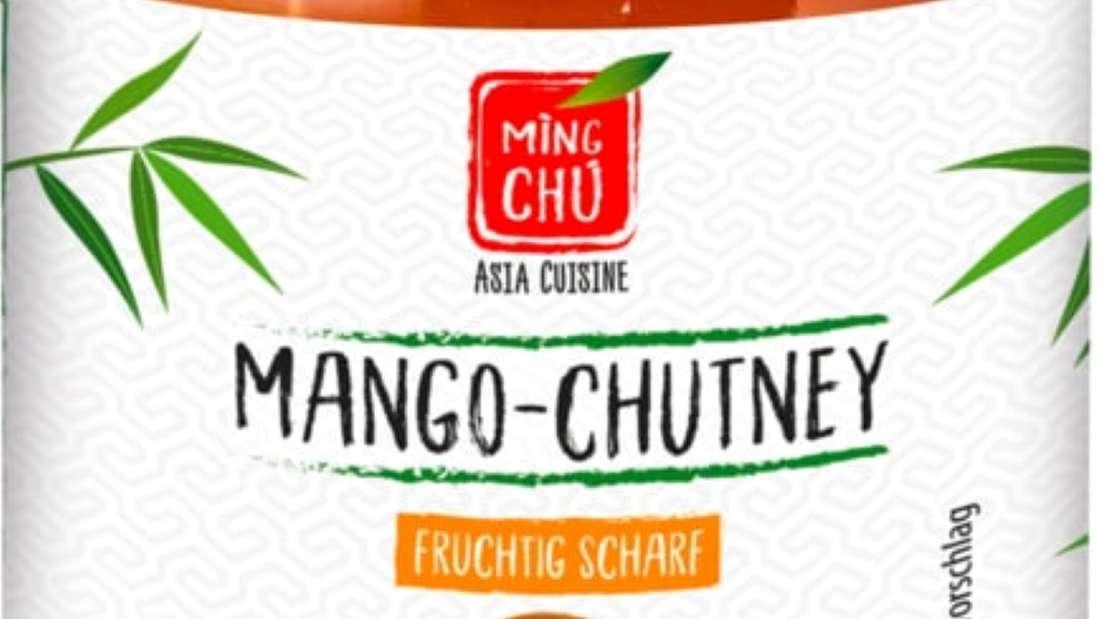 """Glas der Asia-Soße """"Mango-Chutney Fruchtig Scharf"""" von Edeka"""