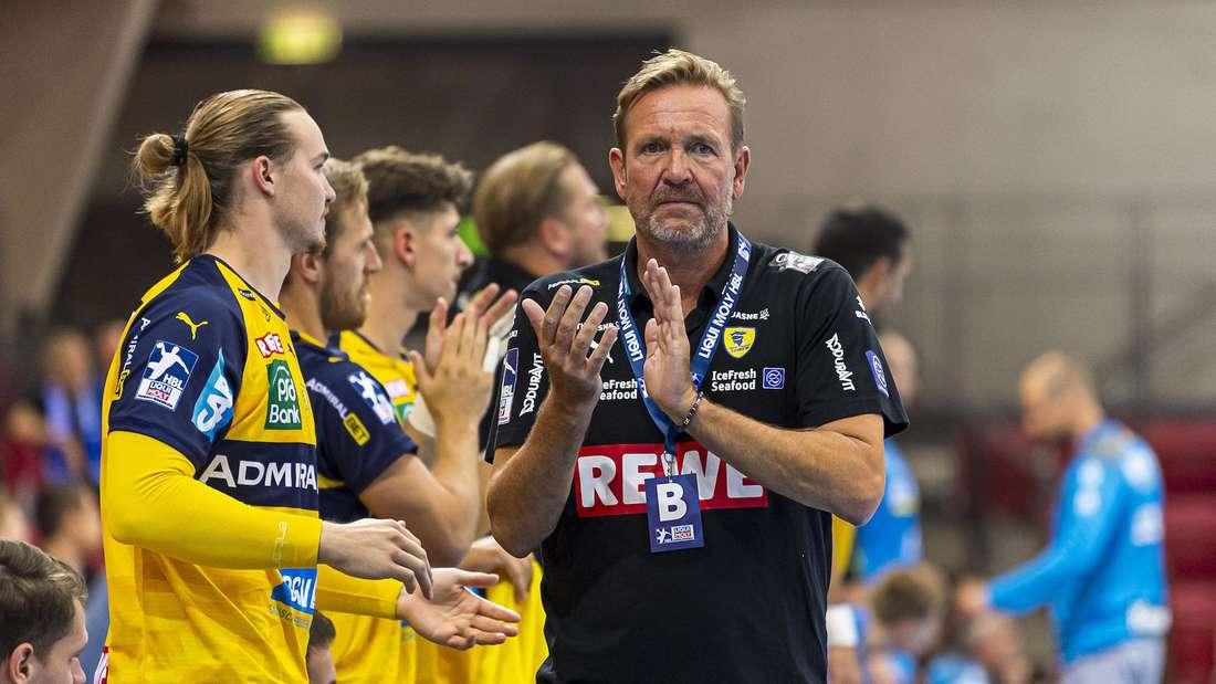 Die Rhein-Neckar Löwen um Trainer Martin Schwalb sind beim BGV Handball Cup gefordert.