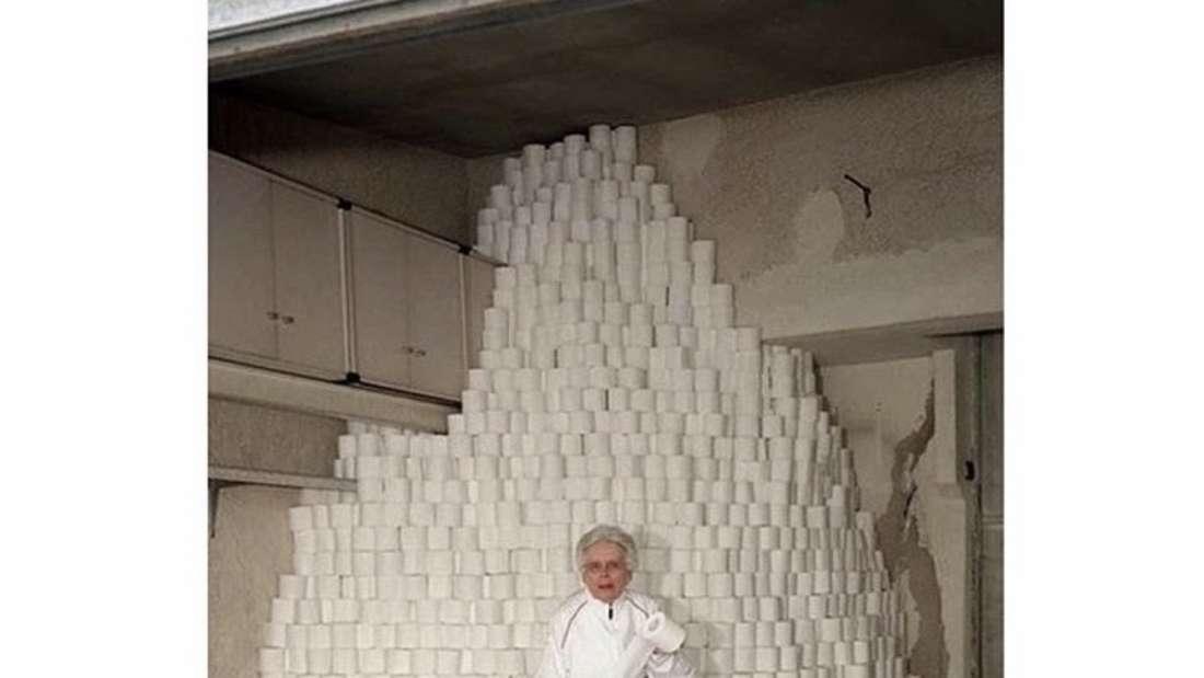 Ein Berg von Toilettenpapier