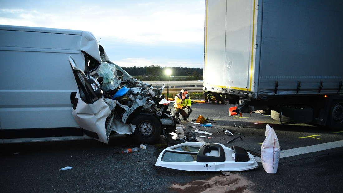 Ein schwerer Unfall ereignet sich auf der A5.