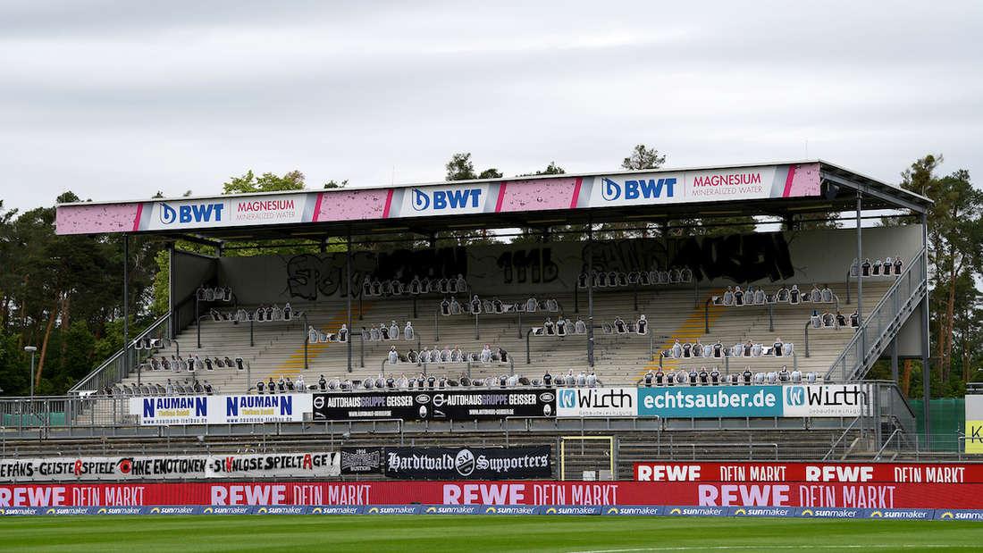 Das BWT-Stadion am Hardtwald bleibt am Sonntag leer.