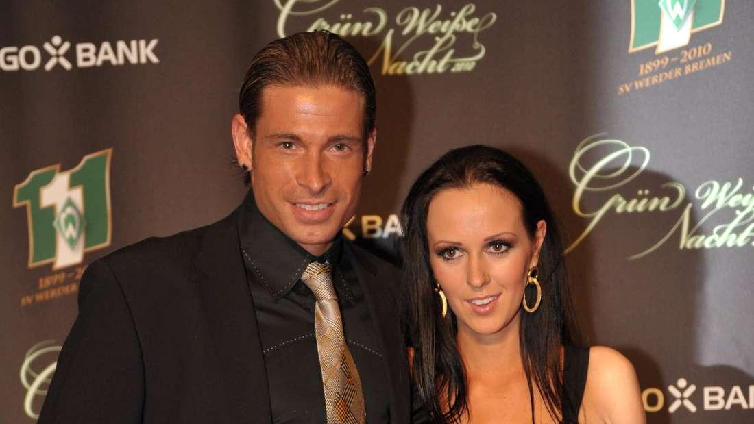 Tim Wiese mit seiner Frau Grit im Februar 2010.