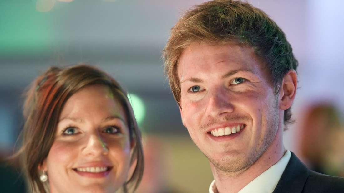 Julian Nagelsmann mit seiner Frau Verena.
