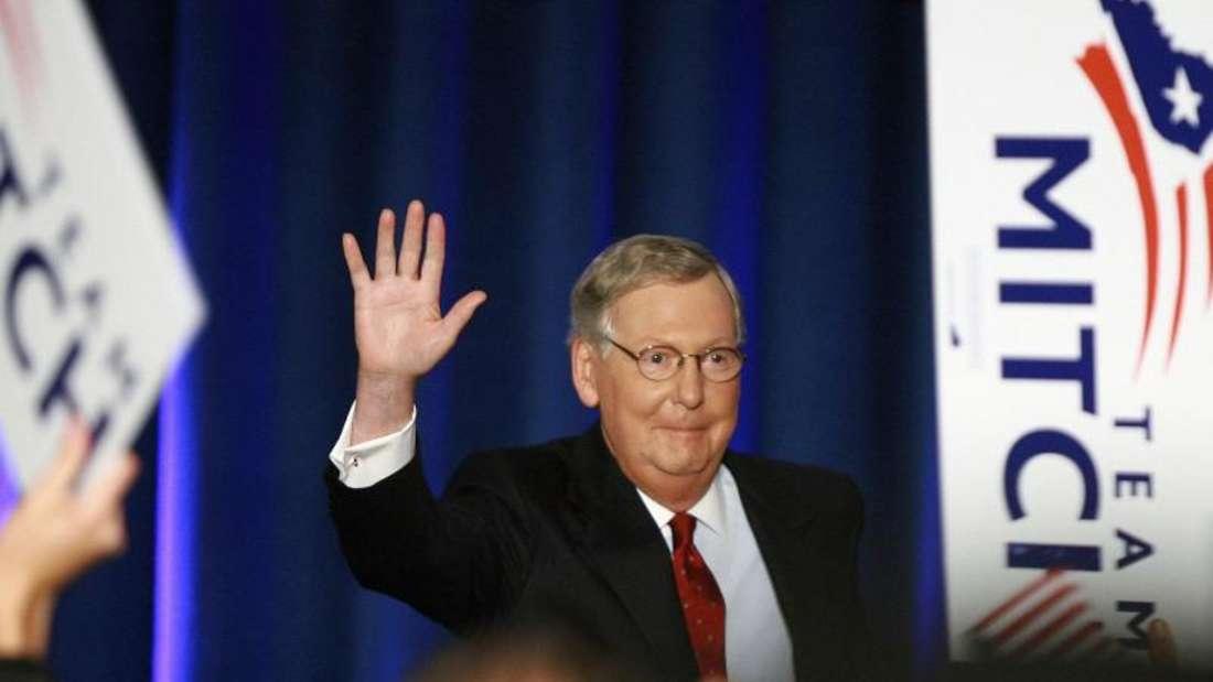 Der republikanische US-Senator Mitch McConnell wird in Kentucky wiedergewählt.
