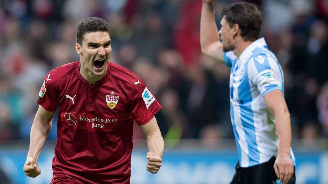 Marcin Kaminski vom VfB Stuttgart jubelt