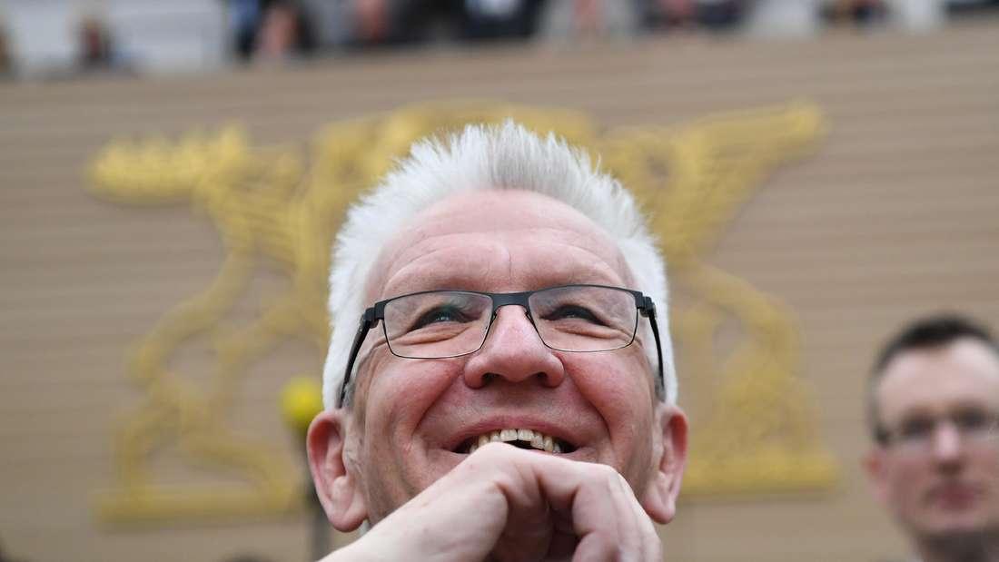 WK einige Tage nach seiner Wiederwahl im Stuttgarter Landtag.