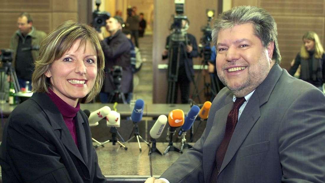 2002: Kurt Beck holt Dreyer als Sozialministerin in sein Kabinett.