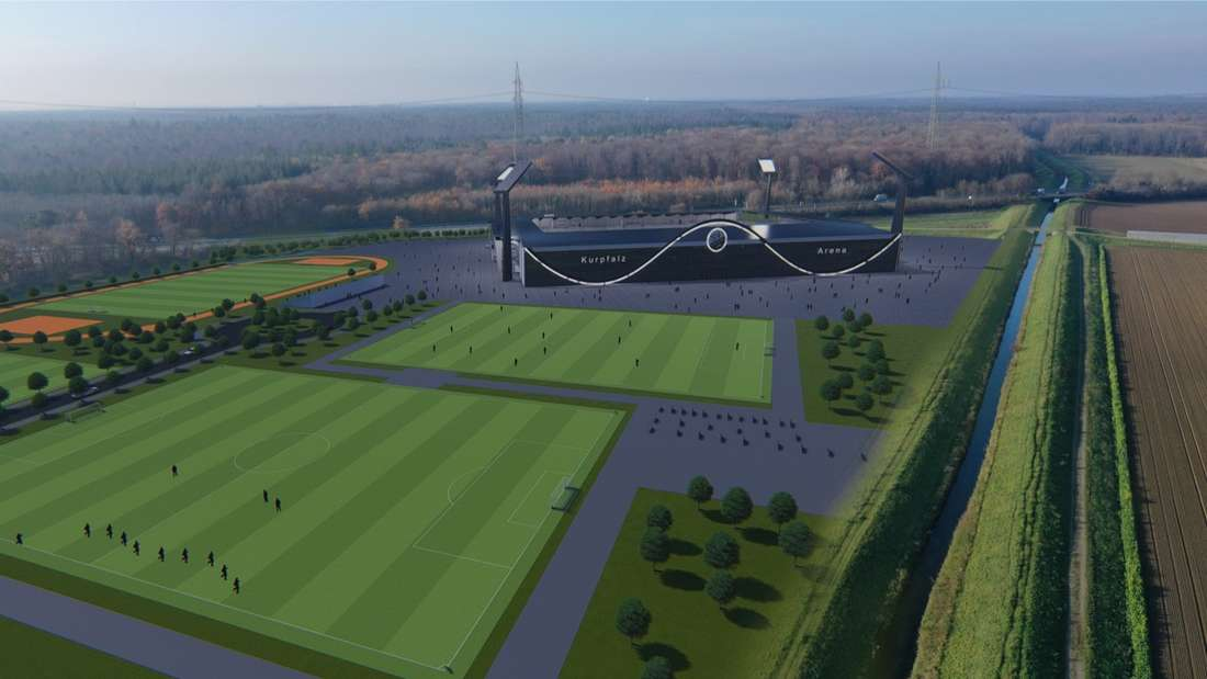 So soll das mögliche neue Stadion des SV Sandhausen aussehen.