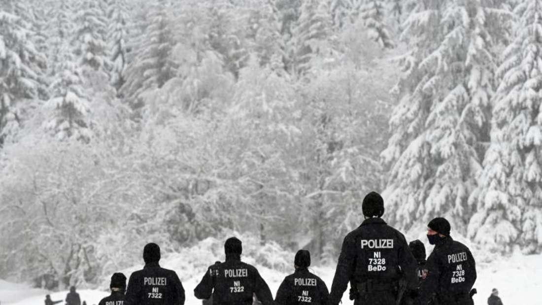 Pistenpatrouille im Harz