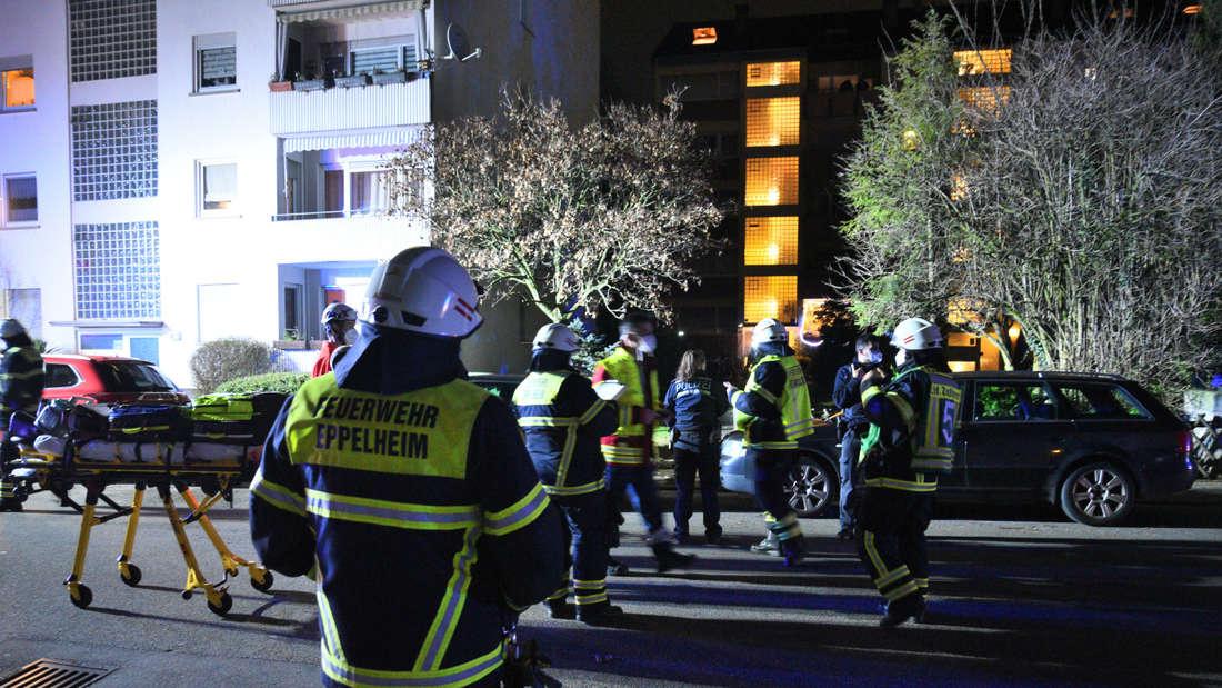 Die Feuerwehr wird zu einem Wohnungsbrand in der Wasserturmstraße in Eppelheim gerufen.