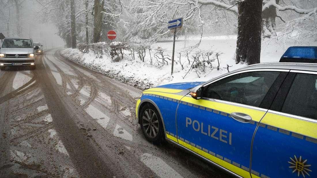 Rhein-Neckar-Kreis: Schneefälle in den Höhenlagen sorgen für Behinderungen auf den Straßen