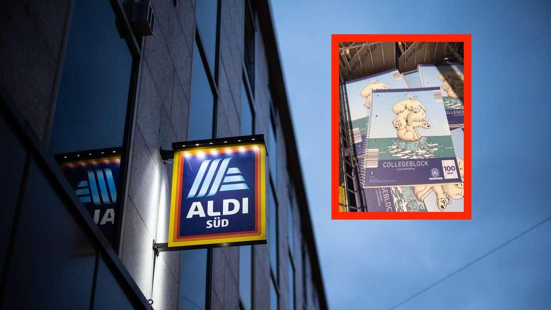 Kunde macht seinem Ärger über Produkt von Aldi Süd Luft (Fotomontage)