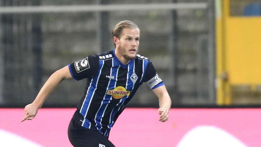 Waldhof-Kapitän Marcel Seegert verpasst gegen den HFC das Siegtor. (Archiv)