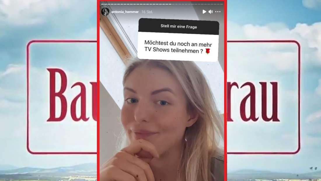 """Ein Fan will von Antonia wissen, ob sie nach """"Bauer sucht Frau"""" noch an anderen TV-Shows teilnehmen möchte (Fotomontage)."""