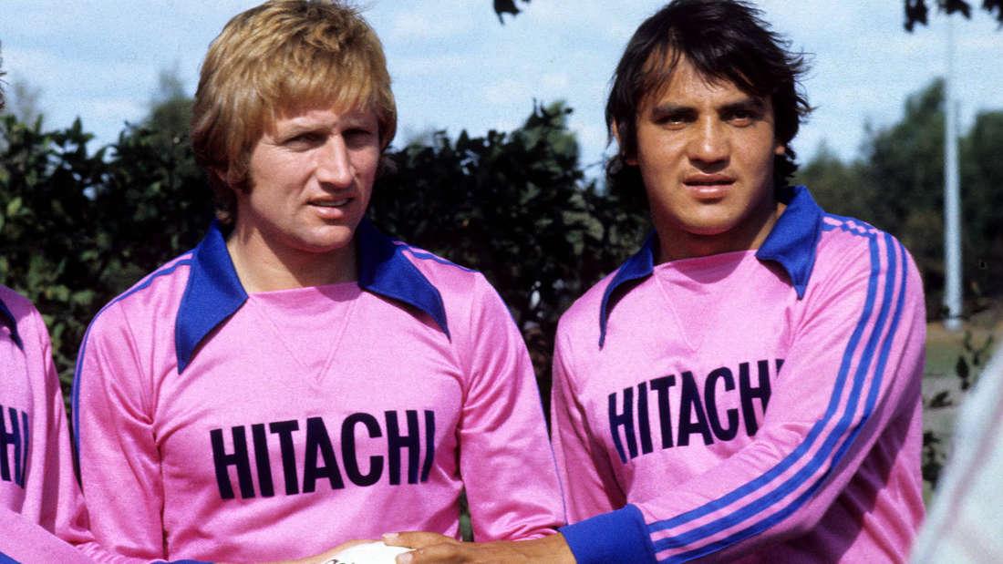 Ferdinand Keller lief gemeinsam mit Felix Magath in pinken Trikots für den HSV auf.
