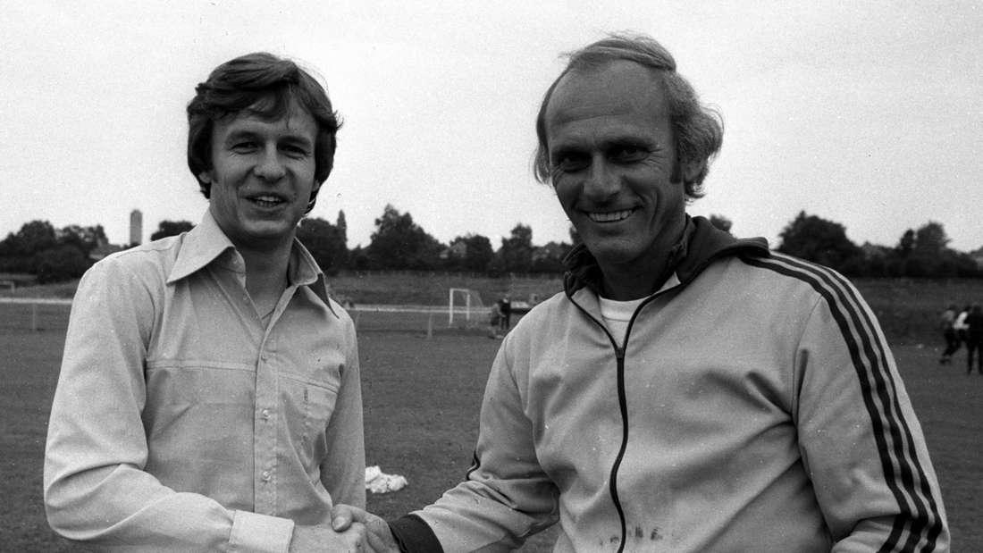 Klaus Wunder mit Bundesliga-Legende Udo Lattek.