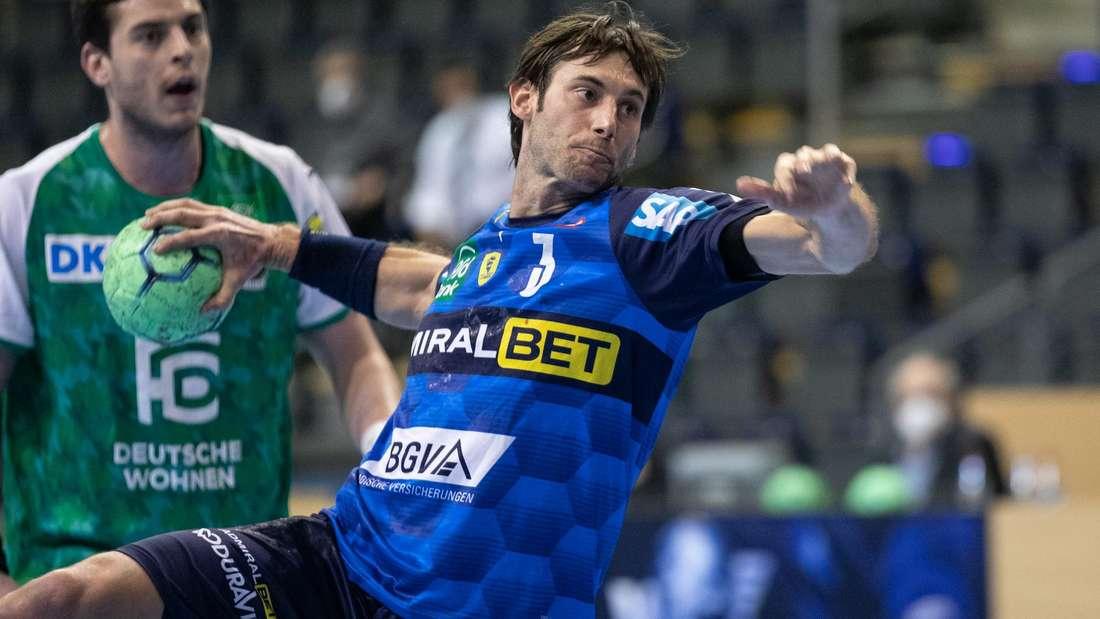 Uwe Gensheimer (Rhein-Neckar Löwen) wirft gegen Berlin sieben Tore.