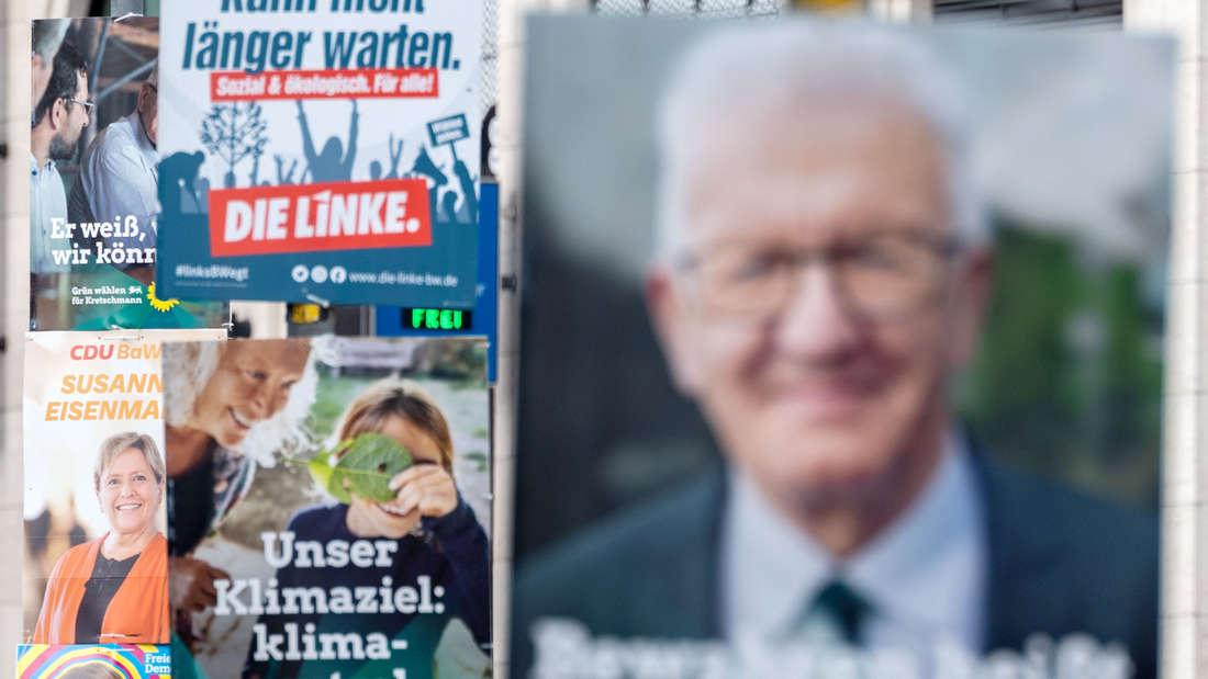 Mehrere Wahlplakate verschiedener Parteien sind betroffen.