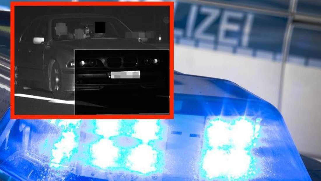 Mit diesem (unkenntlich gemachten) Blitzerfoto suchte die Polizei Heidelberg nach dem Fahrer dieses 5er BMW.