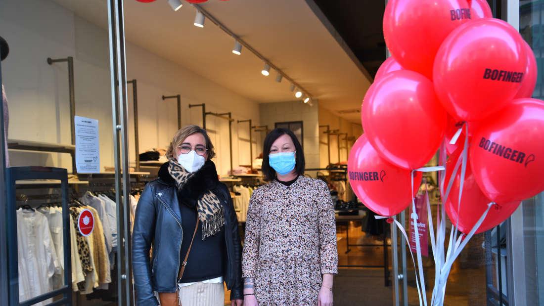 Wie hier das Modehaus Bofinger öffneten am Dienstag (2. März) symbolisch Einzelhändler in der Heidelberger Altstadt.