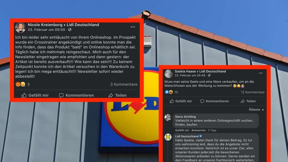 Zwei der Eltern-Beschwerden auf der Facebookseite von Lidl