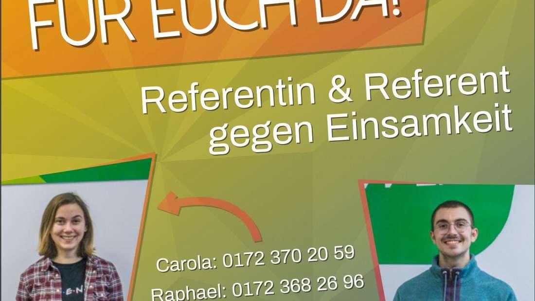 """Ein Plakat des """"Referats gegen Einsamkeit"""" vom Studierendenwerk der Ruprecht-Karls-Universität Heidelberg."""
