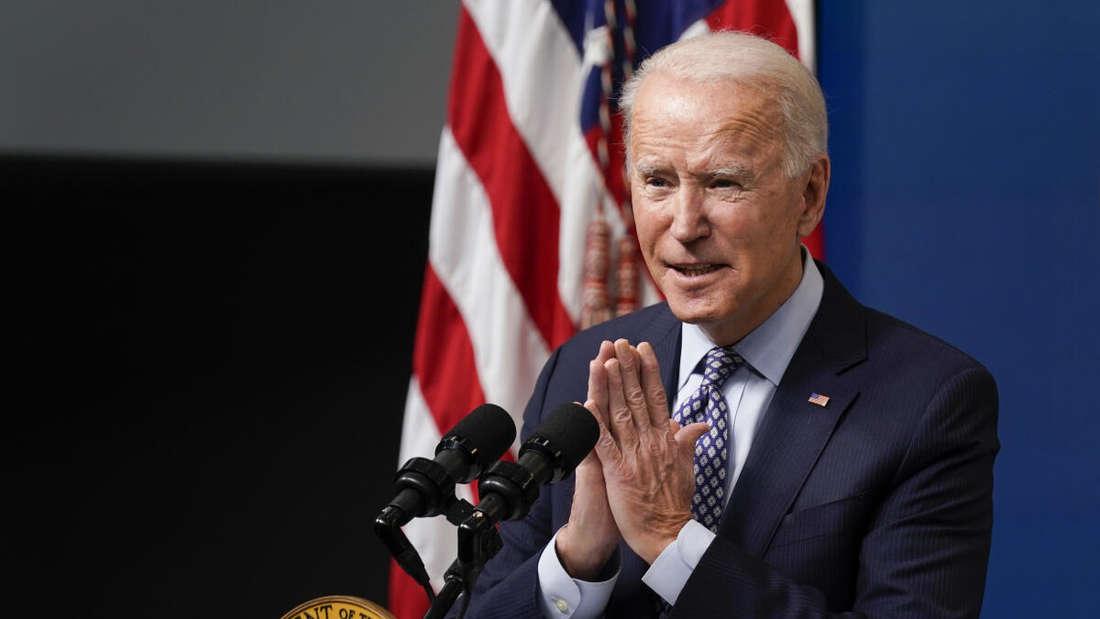 Joe Biden, Präsident der USA, spricht während einer Veranstaltung.