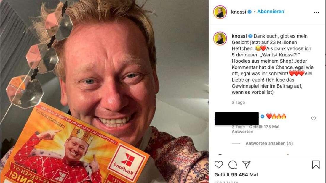Knossi freut sich über das neue Kaufland-Prospekt