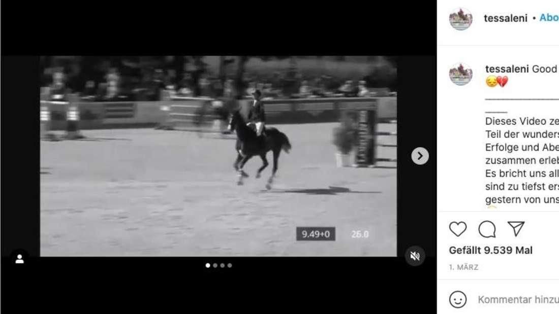 Tessa Leni Thillmann nimmt von ihrer Stute Abschied. Das Pferd starb am Herpes-Virus