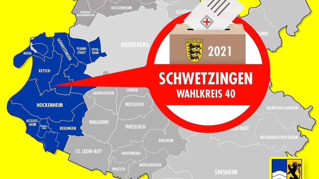 Landtagswahl Baden-Württemberg 2021: Der Wahlkreis 40 Schwetzingen ist einer von vier Wahlkreisen im Rhein-Neckar-Kreis.