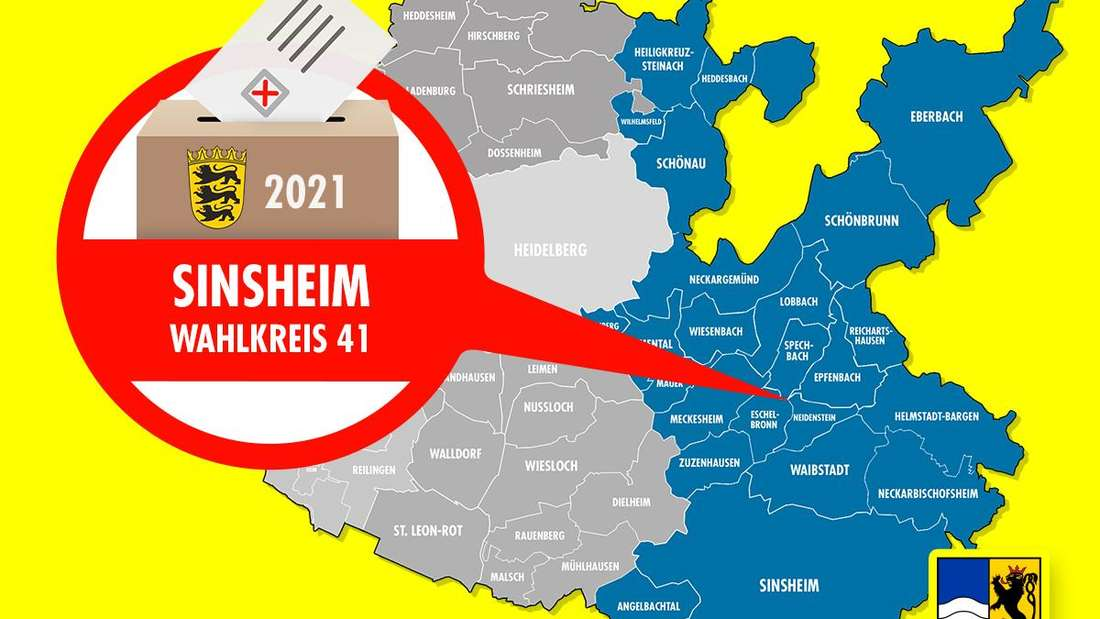Landtagswahl Baden-Württemberg 2021: Der Wahlkreis 41 Sinsheim ist einer von vier Wahlkreisen im Rhein-Neckar-Kreis.
