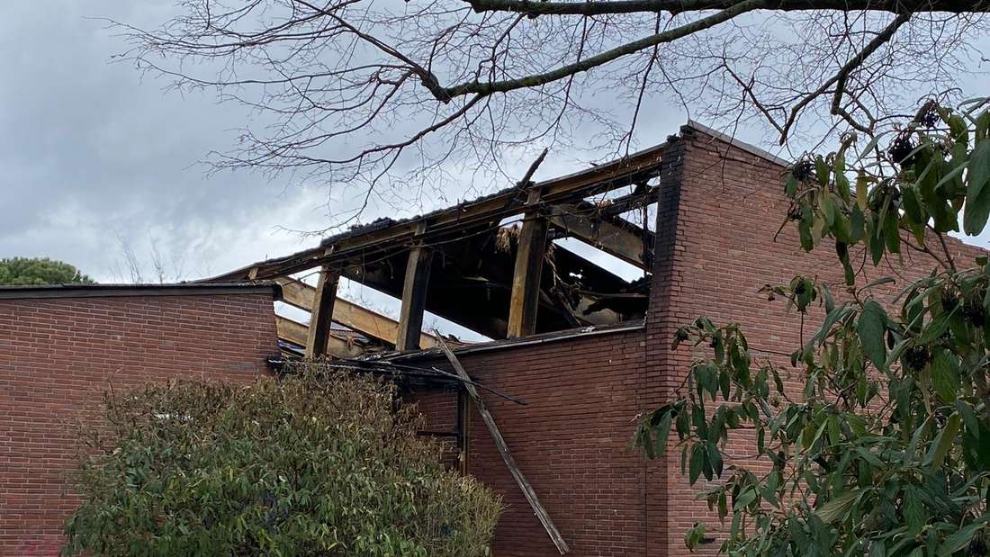 Die Sporthalle an der Geschwister-Scholl-Schule in Heidelberg-Kirchheim wird abgerissen.