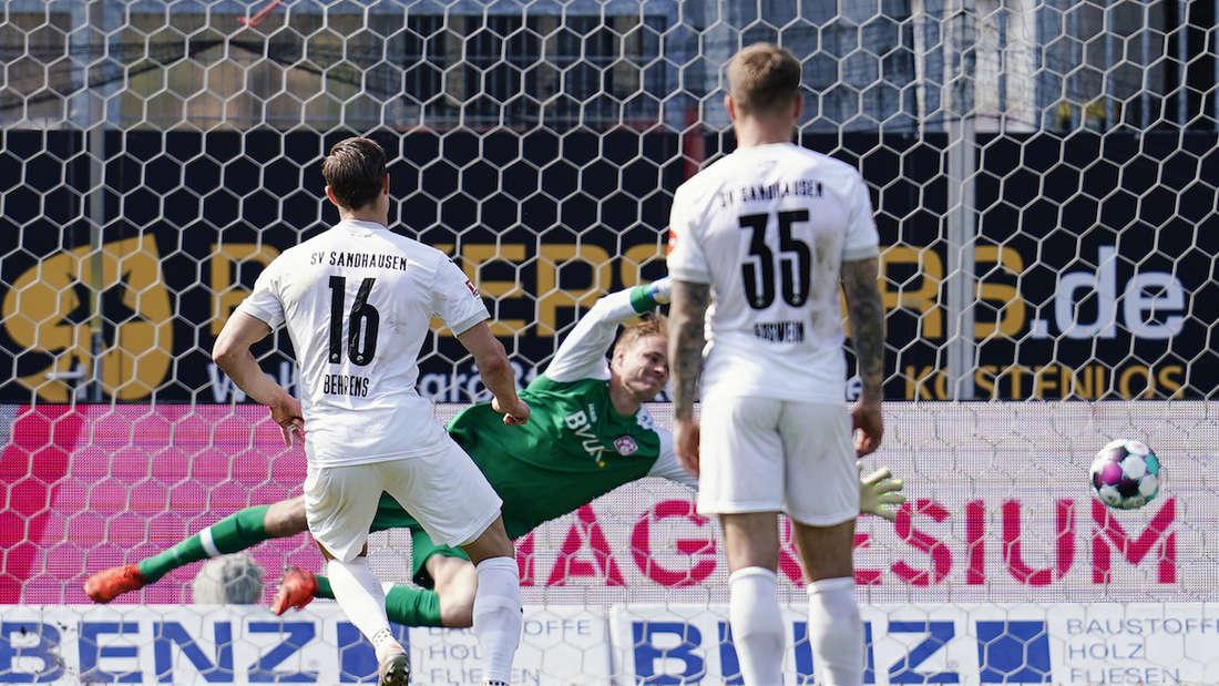 Der SV Sandhausen schlägt die Würzburger Kickers.