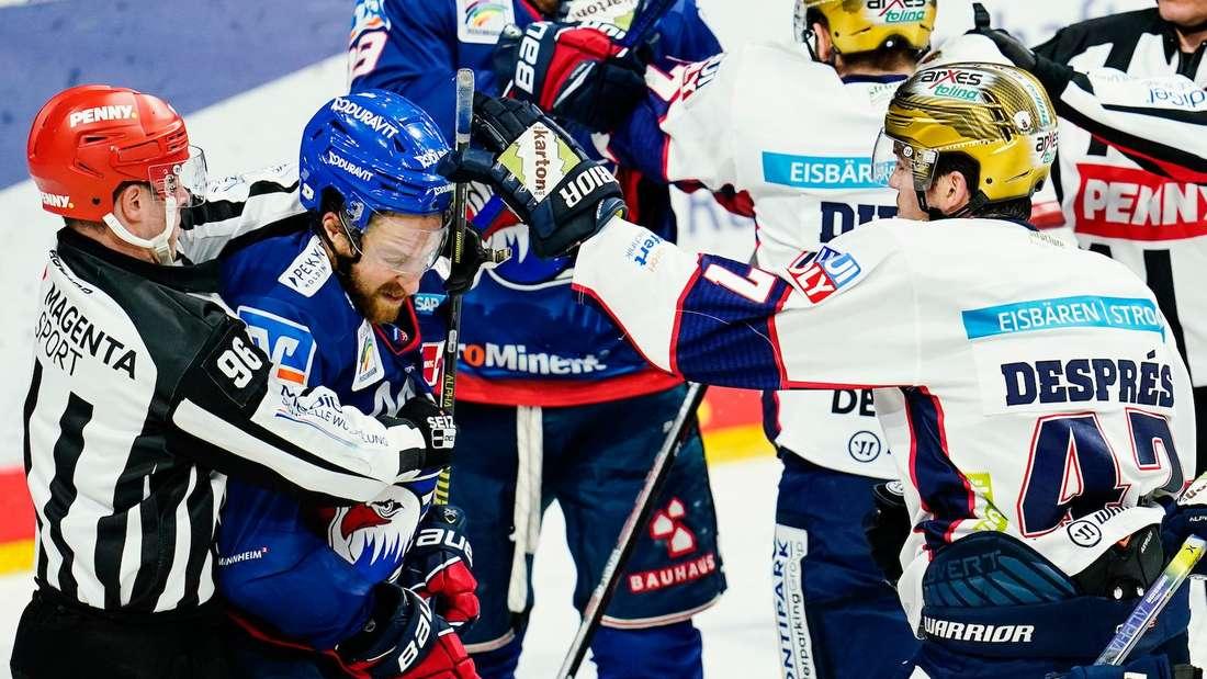 Die Adler Mannheim enttäuschen gegen die Eisbären Berlin.