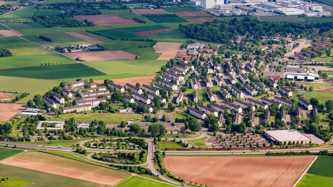 Luftbild Heidelberg ehem. Liegenschaften US-Army Patrick-Henry-Village Konversionsfläche
