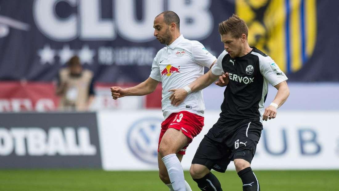 Denis Linsmayer (r.) beim legendären 4:0-Sieg in Leipzig.