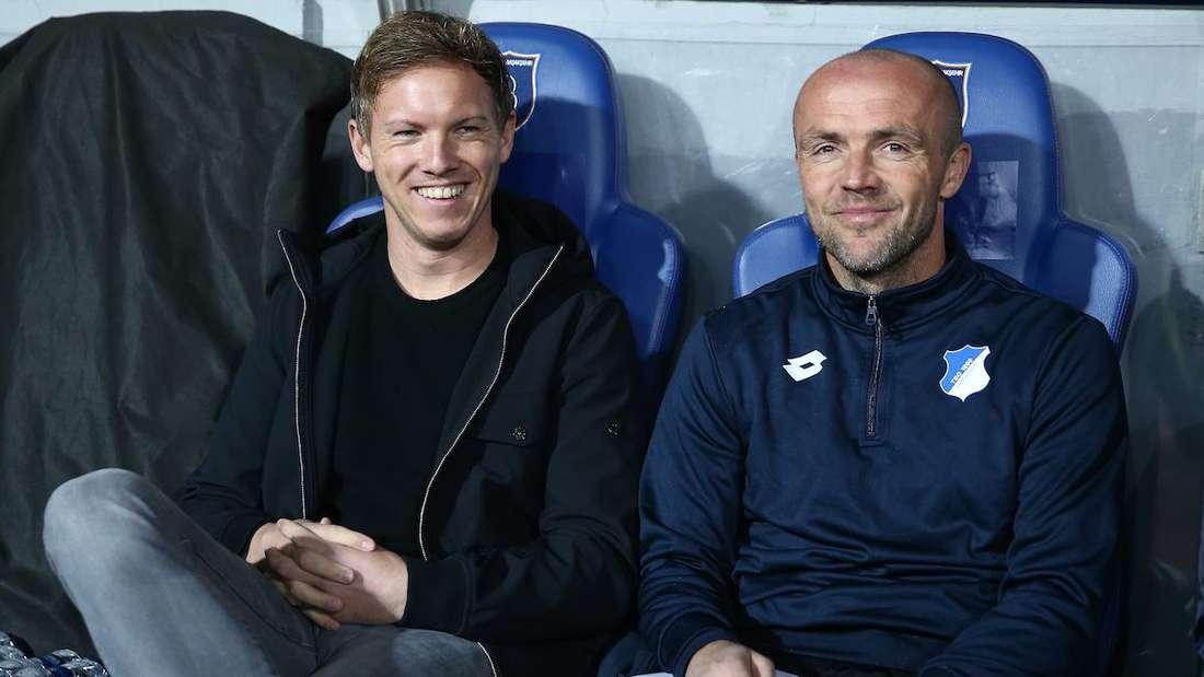 Julian Nagelsmann (li.) und Alfred Schreuder bei der TSG Hoffenheim.