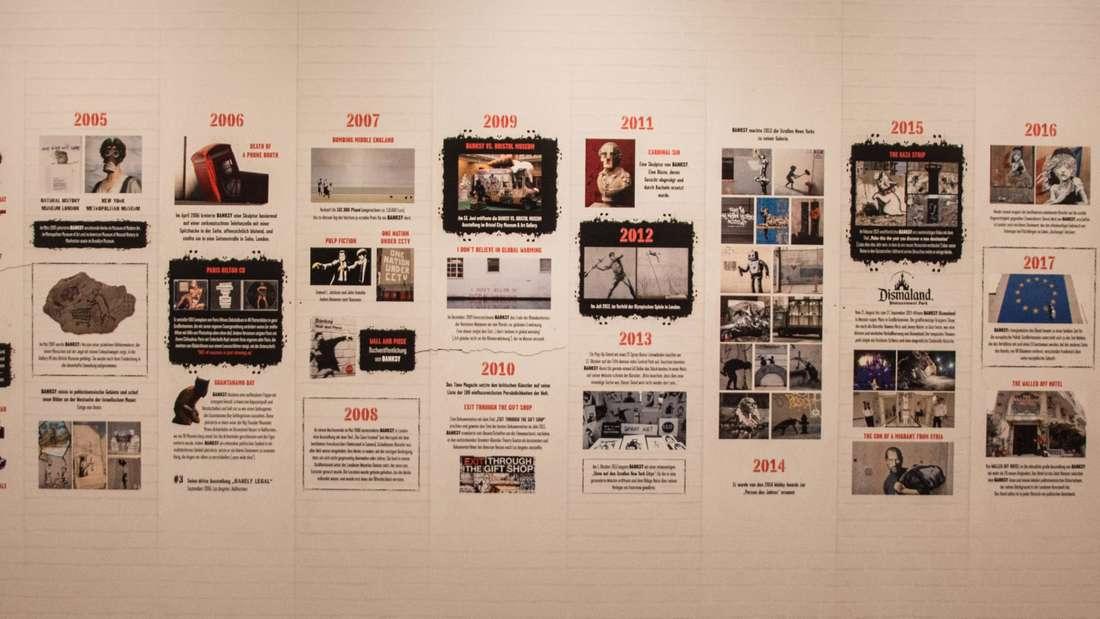 """Impressionen von der Ausstellung """"The Mystery of Banksy – A Genius Mind"""" in der halle02 in Heidelberg."""