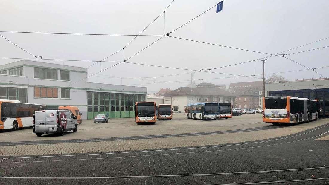 Der Betriebshof in der Bergheimer Straße (Archivfoto)