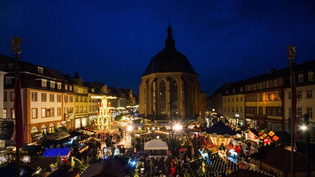 heidelberger weihnachtsmarkt eroeffnet. Eindrucke vom ersten abend 2018
