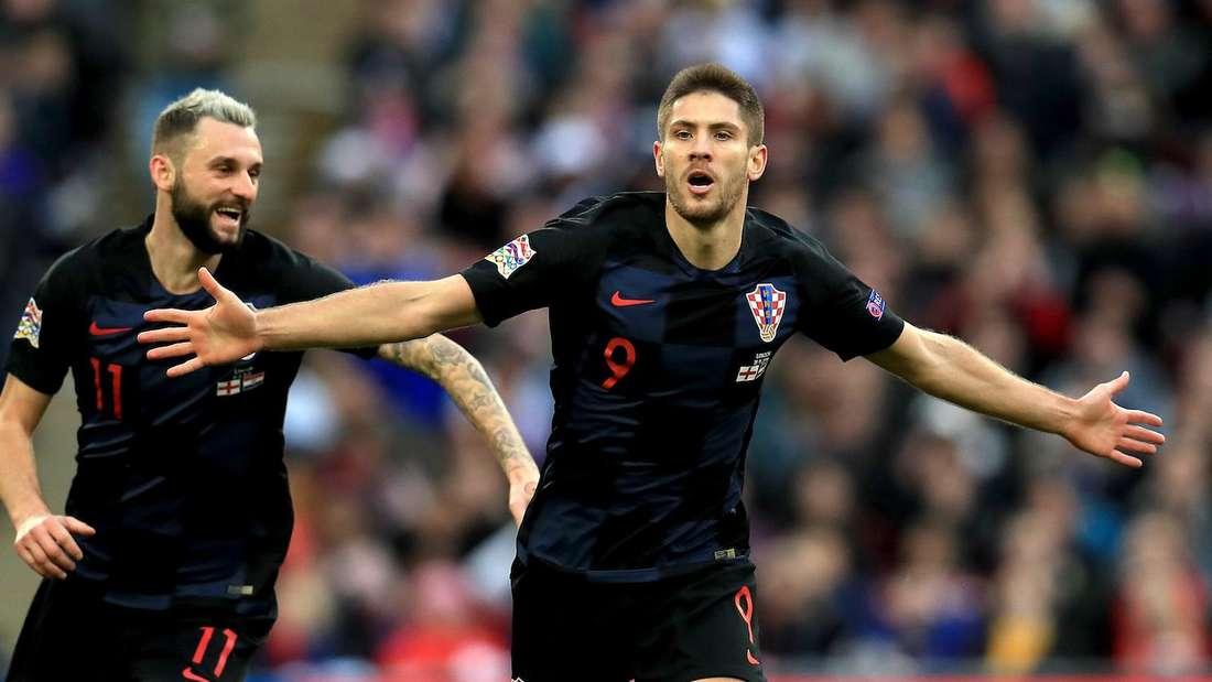 Andrej Kramaric (r.) ist mit Kroatien bei der Fußball-EM 2021 dabei.
