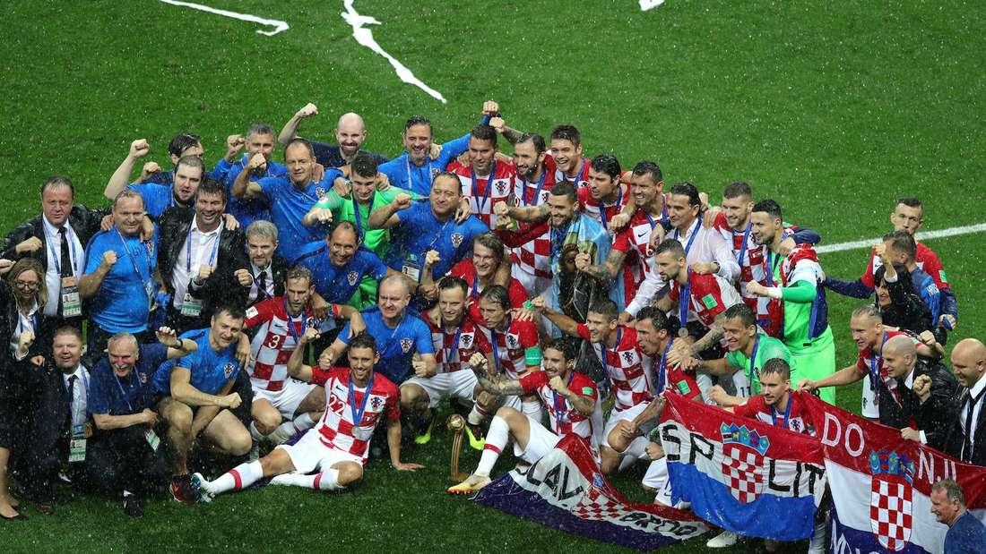Kroatien feiert bei der WM 2018 die Vize-Weltmeisterschaft.