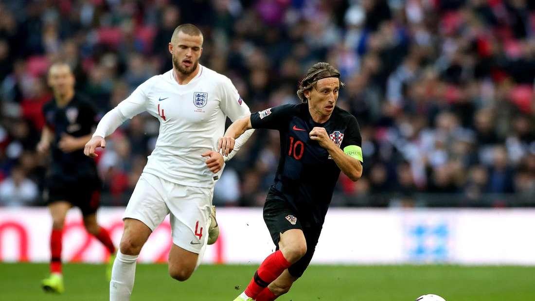 Luka Modric (r.) will mit Kroatien England ärgern.