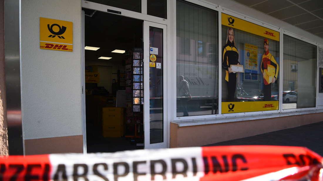Die überfallene Postfiliale in der Schriesheimer Talstraße.