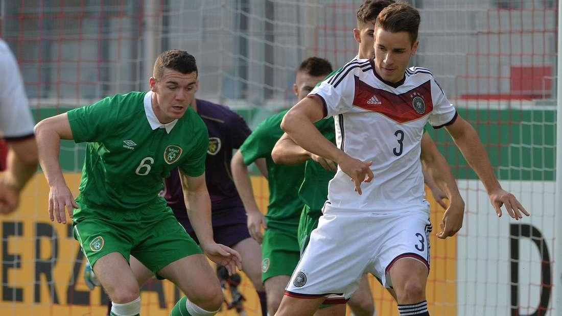 Christian Günter (r.) im Trikot der deutschen U21-Nationalmannschaft.