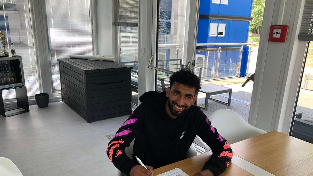 Mohamed Gouaida hat seinen Vertrag beim SV Waldhof verlängert.