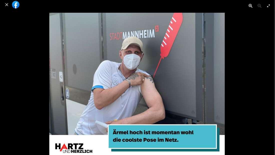 Hartz und herzlich: Auch Elvis hat eine Corona-Impfung erhalten.