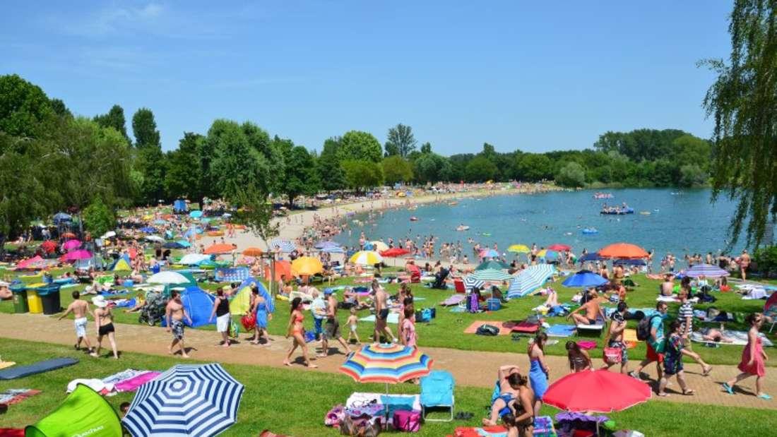 Das Freibad in Heddesheim umfasst einen Teil des Badesees mit 200.000 m² Wasserfläche.(Archivfoto)