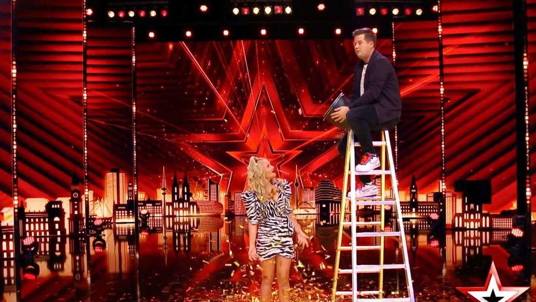 Chris Tall und Evelyn Burdecki beim Supertalent